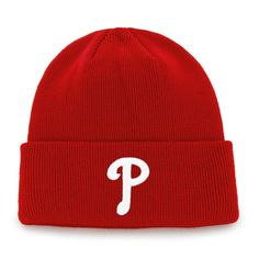 926713333e3 Philadelphia Phillies Raised Cuff Knit Red 47 Brand Hat