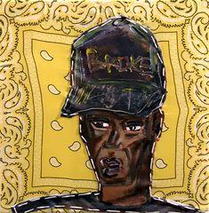 Iriée Zamblé (°1995) Expressief geschilderde figuren van zelfverzekerde zwarte mensen spelen de hoofdrol in zijn werk. Hij legt een vergrootglas op enkele van de passagiers die ons dagelijks passeren, maar toch ondervertegenwoordigd zijn in de kunst van vandaag.