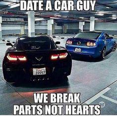 date a car guy we break parts not hearts