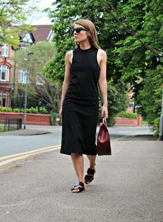 T by Alexander Wang Jersey Midi Dress Outfit