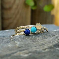 Tiny Gemstone Ring Birthstone Ring Tiny Stacking Ring Gemstone Ring Simple ring Tiny Ring Midi Ring Dainty Gemstone Ring Silver Tiny Ring by INNOCENTIJEWELRY on Etsy