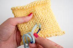 bordar dibujos con lana