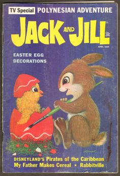 Vintage (April) 1969 Jack and Jill Magazine Easter egg decorations by Corbell