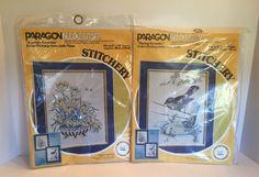 Paragon Needlecraft Lot of 2 Stitchery Kits Blue Bird Spring Garden Serenity | eBay