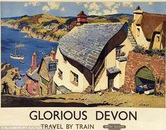 Glorious Devon railway poster