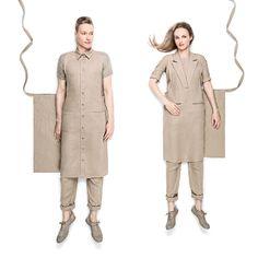 Unisex formal and shirt collar aprons - Kitchen linens - FORMUNIFORM - Cotton - Other Airline Uniforms, Staff Uniforms, Work Uniforms, American Uniform, Housekeeping Uniform, Hotel Uniform, Restaurant Uniforms, Fashion Design Portfolio, Boiler Suit