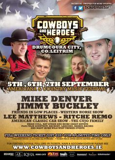 Cowboys and Heroes Drumcoura City Co. Leitrim 5, 6 & 7 September 2014