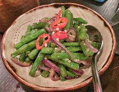 Green beans with chilli and garlic from Miusan