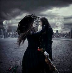 Gothic couple goth love