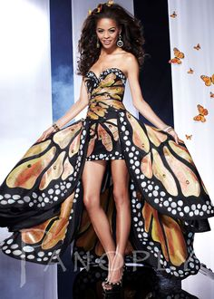 "Panoply 14584 - Monarch Butterfly Print Strapless Sweetheart Hi-Lo Prom Dresses Online <a class=""pintag searchlink"" data-query=""%23thepromdresses"" data-type=""hashtag"" href=""/search/?q=%23thepromdresses&rs=hashtag"" rel=""nofollow"" title=""#thepromdresses search Pinterest"">#thepromdresses</a>"