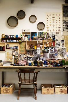 55 Trendy Home Office Design Inspiration Art Studios Home Art Studios, Studios D'art, Art Studio At Home, Artist Studios, Craft Studios, Design Studios, Art Studio Room, Music Studios, Art Studio Design