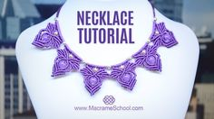 Frozen Elsa Macramé Necklace Tutorial by Macrame School