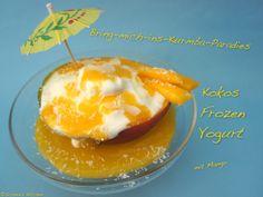 Schnin's Kitchen: Kokos Frozen Yogurt mit Mango-Püree