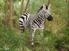 A zebra carefully constructed from #Legos! #animals #cool