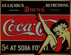 Betty Boop Coca Cola Crochet Pattern