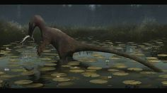 Austroraptor cabazai  catching Fish.