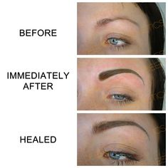 Semi-permanent eyebrows. www.deeperaesthetics.co.uk