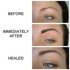Semi-permanent eyebrows. www.deeperaesthetics.co.uk