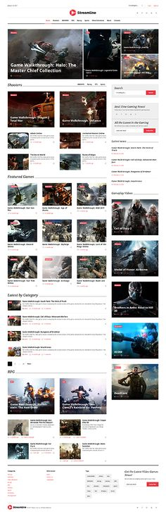 Games WordPress Themes from ThemeForest Web Design Inspiration, Design Ideas, Software, Mobile Web Design, Media Web, Free Website Templates, Web Themes, Consulting Logo, Wordpress Template