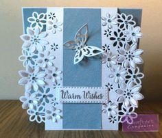 Card using Crafter's Companion Die'sire Edge'able (Floral Dance). Designed by…