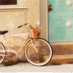 pink vintage bicycle