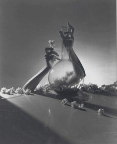 Horst P Horst   Lisa, Hands with Vase and Flowers
