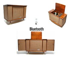 Symphonic Vintage stereo Console wing doors