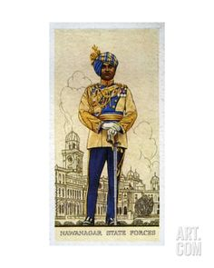 Officer of the Headquarters Staff of the Nawanagar State Forces, Indian Princely States, 1938 Giclee Print at Art.com