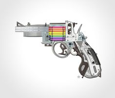 Creative Gun, An Imagined Art Weapon That Uses Crayons For Ammo