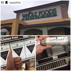 Our cookie dough by @cappellos is now at WFM in Glendale CA!! Go grab some!  Attention Glendale CA. Check out your local Whole Foods for cookie dough and pasta. . Also available online at Cappellos.com #glutenfree #grainfree #vegancookiedough #paleo #pasta