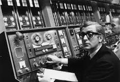 """Actor Michael Caine plays the cockney spy Harry Palmer in the 1967 movie """"Billion Dollar Brain."""" A Honeywell computer, like one that the UCLA team used to connect to ARPANET, is the basis of a huge film set at Pinewood Studios. Michael Cain, Ken Russell, Future Predictions, Joe Cocker, Neil Armstrong, The Spectator, Retro Futurism, Jimi Hendrix, Get Over It"""