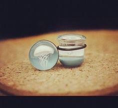 Jellyfish plugs.  in stock at Pinky's Piercing & Fine Body Jewelry