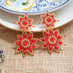Bead Jewellery, Bead Earrings, Wire Wrapping, Jewerly, Wraps, Embroidery, Flowers, Beading, Gallery