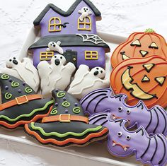 Halloween Sugar Cookies--Whoever made these knew what they were doing. Beautiful!