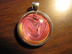 pretty design in silver setting -pendant