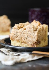Double the Crumb Cake is a tender vanilla cake, swirled with a butter-cinnamon-sugar syrup and then topped with as much crumb topping as I could fit in the pan! We all know the crumb is the best part! Crumb Coffee Cakes, Coffee Cake Muffins, Crumb Cakes, Baking Recipes, Cake Recipes, Dessert Recipes, Just Desserts, Delicious Desserts, Cinnamon Swirl Cake