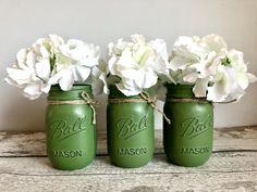 Green Mason Jars, Pint Mason Jars, Twine, Home Remodeling, House Design, Sams, Rustic, Holiday Decor, 50th