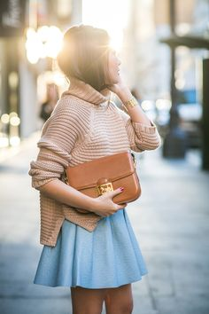 Chunky knits with skate skirts