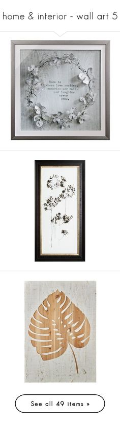 """""""home & interior - wall art 5"""" by bonadea007 ❤ liked on Polyvore featuring home, home decor, frames, wall art, metallic home decor, framed wall art, metallic wall art, flower wall art, blossom wall art and leaves wall art"""