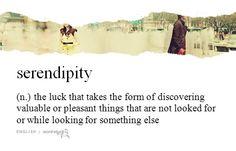 Untranslatable words; serendipity