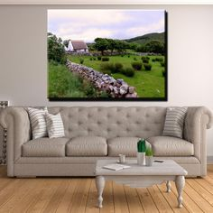 Galway - Oughterard Canvas Print Wall Art Outdoor Sofa, Outdoor Furniture, Outdoor Decor, Wall Art Prints, Canvas Prints, Thing 1, Irish Traditions, 1 Piece, Love Seat