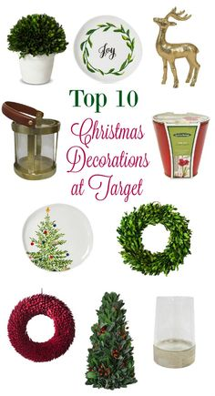 After sharing my favorite Target Christmas decorations, here are your favorite top 10 picks. Click icons on products below to shop.