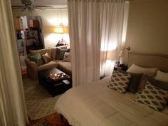 ワンルームレイアウト永遠の課題「リビングと寝室の2部屋に分けたい!」を、間仕切りでかなえましょ♫ | folk (2ページ)