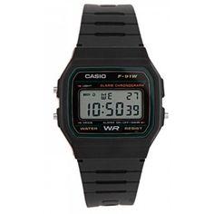 Casio Watch F-91W-3DG Classic Digital Men Black Strap (ORIGINAL)