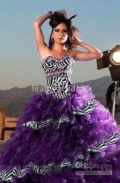 Purple grad dress with zebra top