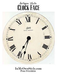 Clock-face-antique-white.jpg (680×880)