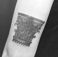 118 Tatuagens de arquitetura impressionantes,Mariela Mezalira. Via Facebook