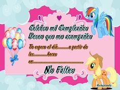 Tarjetas cumpleaños para imprimir My Little Pony - Imagui