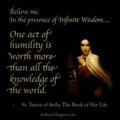 St Teresa of Avila Quotes | Pope Benedict XVI on St. Teresa of Avila from 2011 General Audience