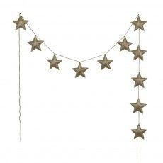Mini stars garland - golden Gold
